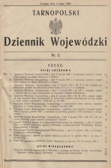 Tarnopolski Dziennik Wojewódzki. 1936, nr2