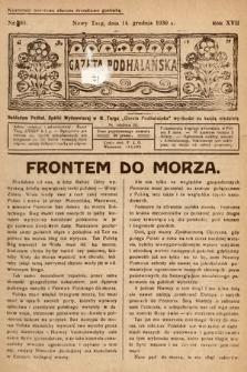 Gazeta Podhalańska. 1930, nr50