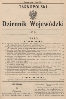 Tarnopolski Dziennik Wojewódzki. 1936, nr7