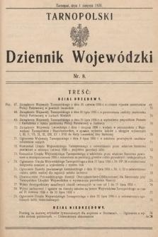 Tarnopolski Dziennik Wojewódzki. 1936, nr8