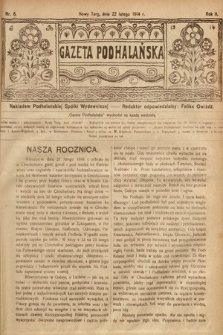 Gazeta Podhalańska. 1914, nr8