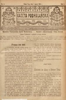Gazeta Podhalańska. 1914, nr9