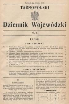 Tarnopolski Dziennik Wojewódzki. 1937, nr3