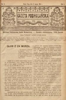 Gazeta Podhalańska. 1914, nr11
