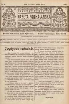 Gazeta Podhalańska. 1914, nr14