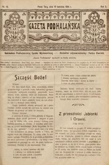 Gazeta Podhalańska. 1914, nr16