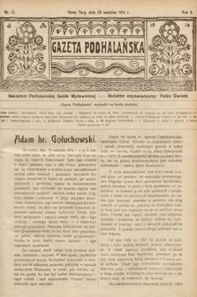 Gazeta Podhalańska. 1914, nr17
