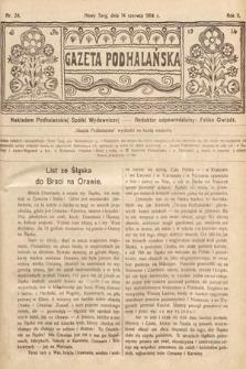 Gazeta Podhalańska. 1914, nr24