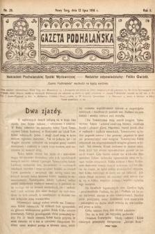 Gazeta Podhalańska. 1914, nr28