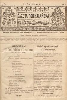 Gazeta Podhalańska. 1914, nr30