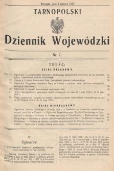 Tarnopolski Dziennik Wojewódzki. 1938, nr7