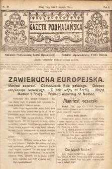 Gazeta Podhalańska. 1914, nr32