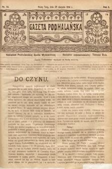 Gazeta Podhalańska. 1914, nr34