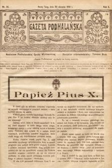 Gazeta Podhalańska. 1914, nr35