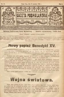 Gazeta Podhalańska. 1914, nr37