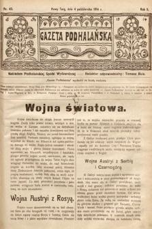 Gazeta Podhalańska. 1914, nr40