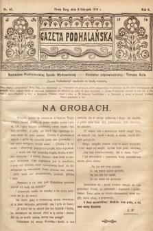 Gazeta Podhalańska. 1914, nr45
