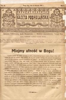 Gazeta Podhalańska. 1914, nr46