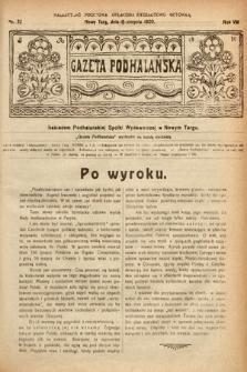 Gazeta Podhalańska. 1920, nr32