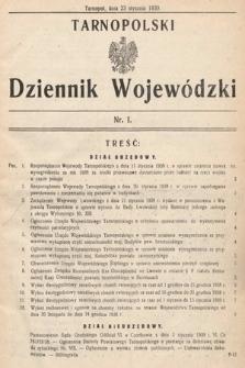 Tarnopolski Dziennik Wojewódzki. 1939, nr1