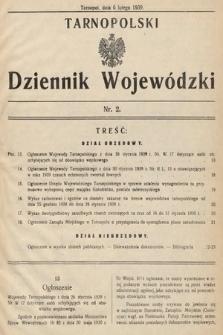 Tarnopolski Dziennik Wojewódzki. 1939, nr2