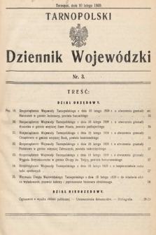 Tarnopolski Dziennik Wojewódzki. 1939, nr3