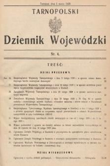 Tarnopolski Dziennik Wojewódzki. 1939, nr4