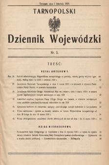 Tarnopolski Dziennik Wojewódzki. 1939, nr5