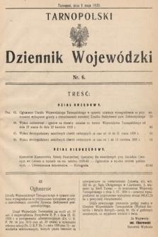 Tarnopolski Dziennik Wojewódzki. 1939, nr6