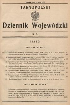 Tarnopolski Dziennik Wojewódzki. 1939, nr7