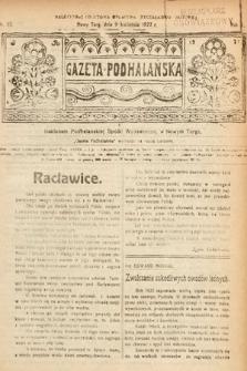 Gazeta Podhalańska. 1922, nr15