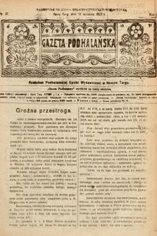 Gazeta Podhalańska. 1922, nr37