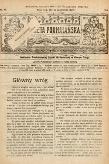 Gazeta Podhalańska. 1922, nr43