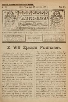 Gazeta Podhalańska. 1924, nr33