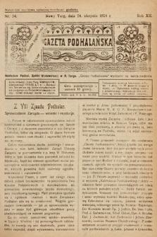 Gazeta Podhalańska. 1924, nr34