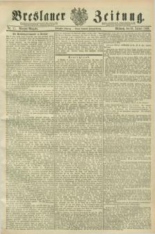 Breslauer Zeitung. Jg.70, Nr. 37 (16 Januar 1889) - Morgen-Ausgabe + dod.