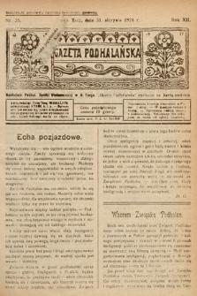 Gazeta Podhalańska. 1924, nr35