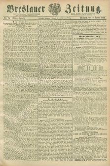 Breslauer Zeitung. Jg.70, Nr. 74 (30 Januar 1889) - Mittag-Ausgabe