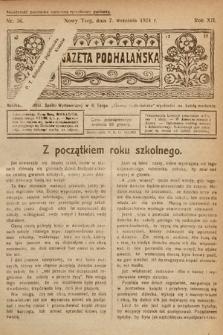 Gazeta Podhalańska. 1924, nr36