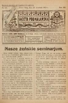 Gazeta Podhalańska. 1924, nr39