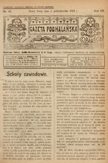 Gazeta Podhalańska. 1924, nr40