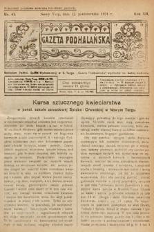 Gazeta Podhalańska. 1924, nr41
