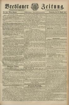 Breslauer Zeitung. Jg.70, Nr. 584 (22 August 1889) - Mittag-Ausgabe