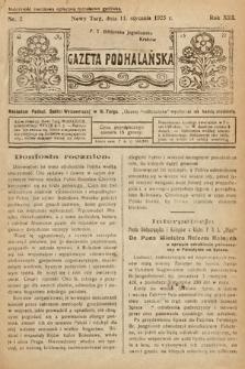 Gazeta Podhalańska. 1925, nr2