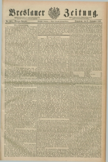 Breslauer Zeitung. Jg.70, Nr. 661 (21 September 1889) - Morgen-Ausgabe + dod.