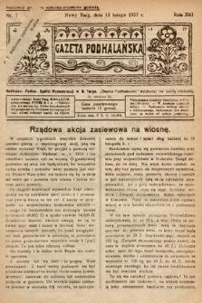 Gazeta Podhalańska. 1925, nr7