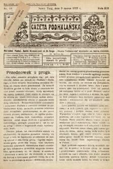 Gazeta Podhalańska. 1925, nr10