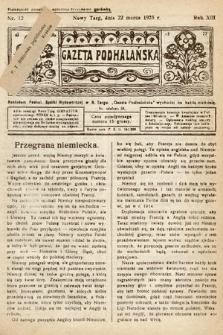 Gazeta Podhalańska. 1925, nr12
