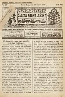 Gazeta Podhalańska. 1925, nr13