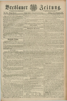 Breslauer Zeitung. Jg.70, Nr. 809 (18 November 1889) - Mittag-Ausgabe